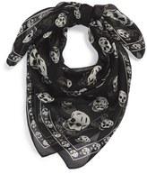 Alexander McQueen Men's Skull Print Silk Chiffon Scarf