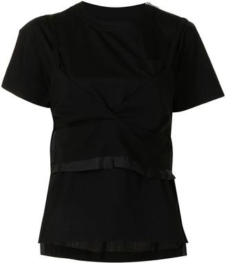Sacai wrap layer T-shirt