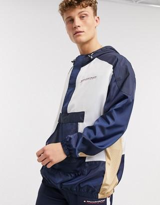 Tommy Hilfiger half zip windbreaker jacket