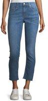 Rag & Bone Mid-Rise Ankle Skinny-Leg Jeans w/ Frayed Hem
