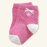 Ralph Lauren Pin-Dot Crew Sock