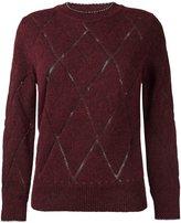 Isabel Marant argyle style knit jumper