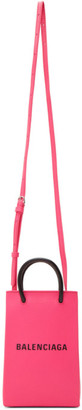 Balenciaga Pink Shopping Phone Holder Bag