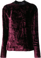 Maison Margiela crushed velvet top