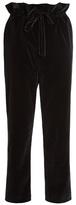 Isa Arfen Straight leg cotton-blend velvet trousers