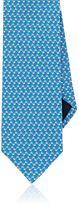 Salvatore Ferragamo Men's Dog-Print Silk Necktie