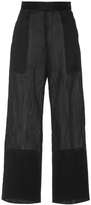 Maison Rabih Kayrouz Black Wired Organza Wide Leg Trousers