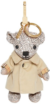 Burberry Thomas Bear Charm in trench coat