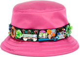Miu Miu embellished bucket hat - women - Silk/Viscose/PVC - One Size