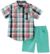 Kids Headquarters 2-Pc. Plaid Shirt & Shorts Set, Baby Boys (0-24 months)