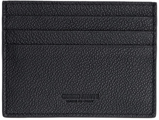 Giorgio Armani Black Tumbled Leather Card Holder