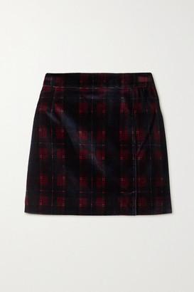 Bella Freud Checked Cotton-velvet Mini Skirt