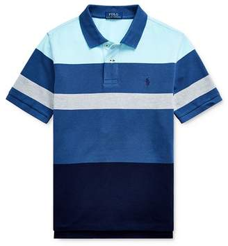 Ralph Lauren Boys' Striped Color-Block Polo Shirt - Big Kid