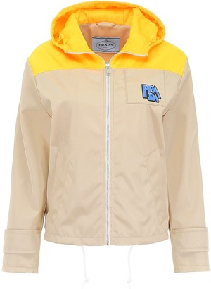 Prada Colour-Block Hooded Jacket