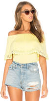 VAVA by Joy Han Morgana Top in Yellow. - size L (also in M,S,XS)