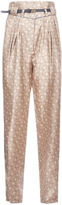 Fendi High Waist Printed Pants