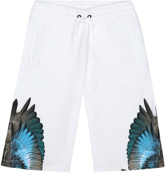 Wings cotton-blend shorts