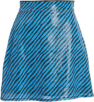 Olivia Rubin Libby Striped Sequined Mini Skirt