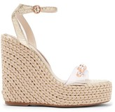 Sophia Webster Dina Crystal-studded Espadrille Wedge Sandals - Womens - Gold