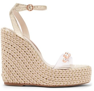 Sophia Webster Dina Crystal-studded Espadrille Wedge Sandals - Womens - Gold