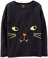 Carter's Kitty Face Tee (Baby) - Black-3 Months