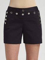 Dolce & Gabbana Button Front Nautical Shorts
