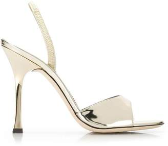 Giuseppe Zanotti metallic stiletto sandals