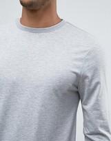 Asos Lightweight Muscle Sweatshirt In Gray Marl