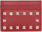 Valentino Red Rockstud Card Holder