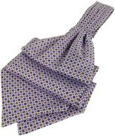 Forzieri Dots and Flower Print Silk Ascot