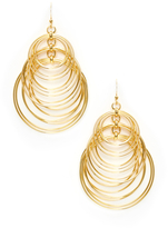 Kenneth Jay Lane Multi Layer Circle Statement Earrings