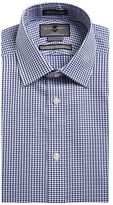 Black Brown 1826 Non-Iron Slim-Fit Embroidered Check Dress Shirt