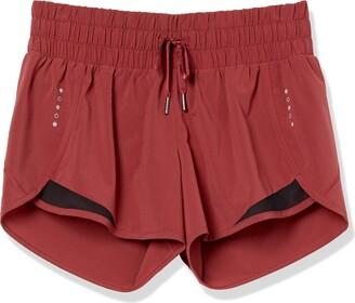 "Core 10 Amazon Brand Women's (XS-3X) Rouched Waistband Run Short Brief Liner - 3"" Shorts"