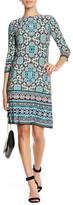 London Times Maze Print Jersey Shift Dress (Petite)