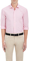 Barneys New York Men's Striated-Striped Cotton-Linen Dress Shirt