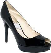 York Peep-Toe Platform Pumps