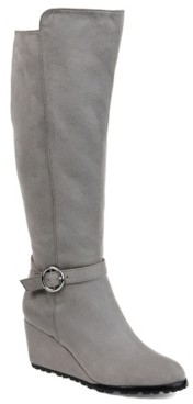 Journee Collection Veronica Extra Wide Calf Wedge Boot
