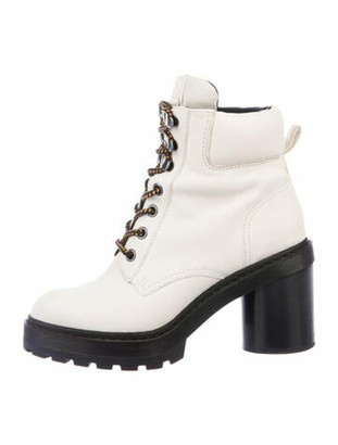 Marc Jacobs Leather Combat Boots