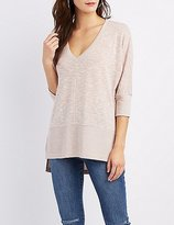 Charlotte Russe Slub Knit Dolman Sweater
