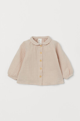 H&M Flared Cotton Blouse