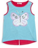 Design History Toddler's, Little Girl's & Girl's Butterfly Hi-Lo Tank
