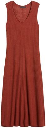 Banana Republic Petite Linen-Blend Sweater Dress