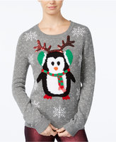 Almost Famous Juniors' Penguin Holiday Sweater