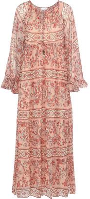 Zimmermann Castile Printed Silk-georgette Maxi Dress