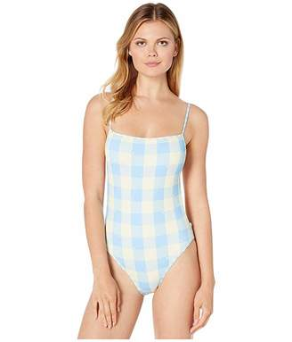 Polo Ralph Lauren Buffalo Plaid Over-the-Shoulder Classic Mio One-Piece Swimsuit