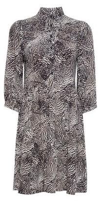 Dorothy Perkins Womens Dp Petite Multi Colour Animal Print Smock Dress