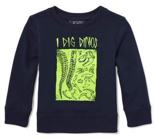 Children's Place The Long Sleeve 'I Dig Dinos' Graphic T-Shirt (Baby Boys & Toddler Boys)