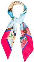 Hermes Christophe Colomb Silk Jacquard Scarf