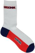 For Bare Feet Connecticut Huskies Crew White 506 Socks