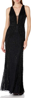 Adrianna Papell Women's Beaded Halter Dress